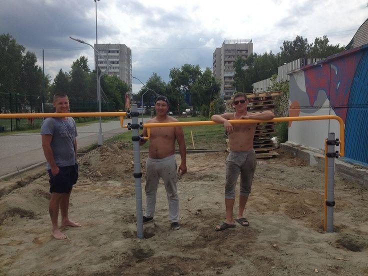 Зона воркаута в Парке Спорта Алексея Смертина