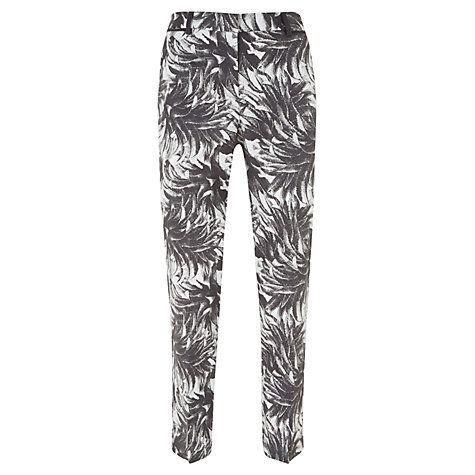 Buy Mint Velvet Mira Print Capri Trousers, Multi Online at johnlewis.com