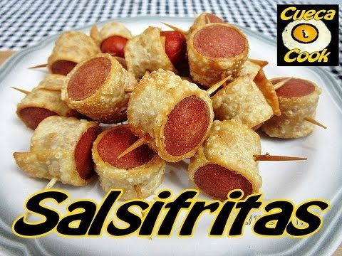 Salsifritas (salsicha enrolada na massa de pastel) - Cueca Cook # 109 - YouTube