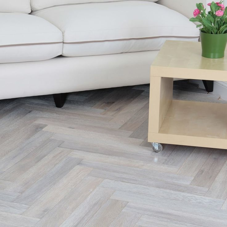 Princeton Engineered Herringbone Parquet Flooring Oak 18/5 x 90mm Smoked Brushed and White Oiled 1.6632m2