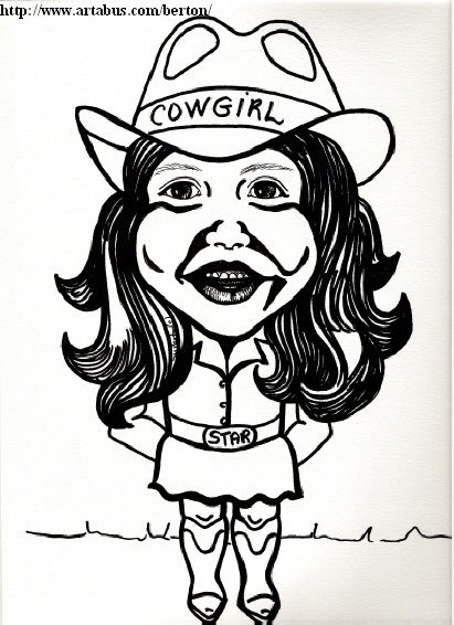 Calgary Princess Three caricature by