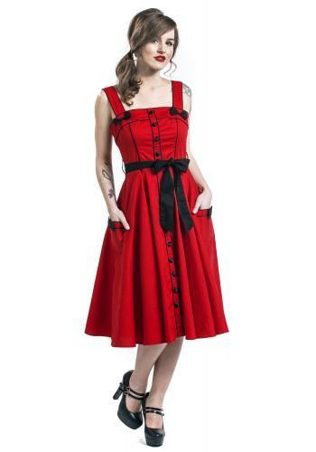 """Abito di media lunghezza """"Martie 50´s Dress"""" del brand #HellBunny."""