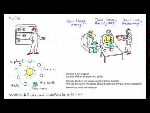 """Learn English - indefinite and definite articles (""""a cat, the cat"""") - YouTube"""