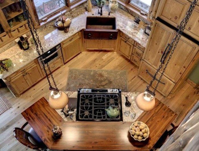 ilot-centrale-cuisine-ikea-arrondie-plan-de-travail-arrondi-en-bois-sol-en-parquet-clair