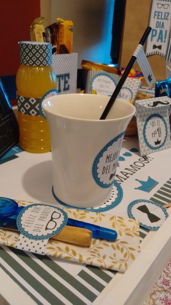 Kit Imprimible Desayuno O Merienda Dia Del Padre Para Papa - $ 99,90 en MercadoLibre