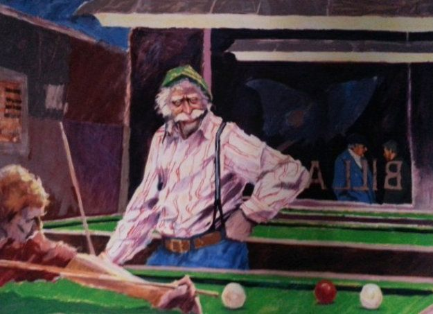 Billiards At Cafe Palermo by Aldo Luongo