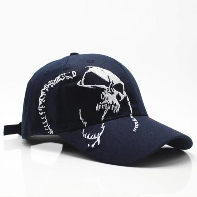 Skull Embroidery Baseball Cap For Men and Women Cotton Snapback Sports Cap Hat