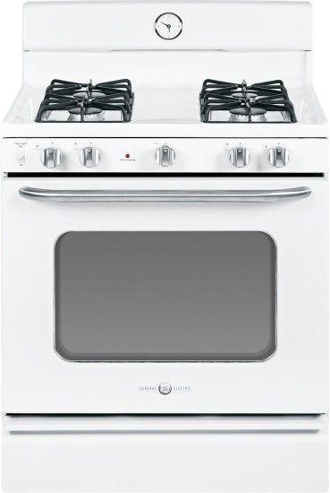 """GE Artistry Series 30"""" Freestanding Gas Range Whiteon"""