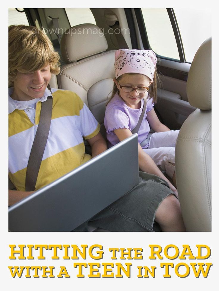 Hitting the Road with a Teen in Tow | Grown Ups Magazine - Four tips for facing a long car ride with a bored teenager