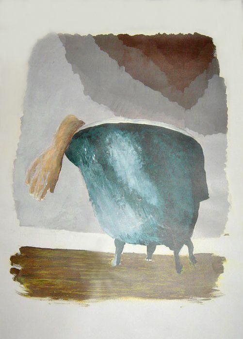 """Marat"" Acrylic on paper"