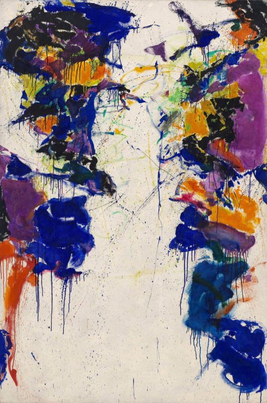 """American Painter Sam Francis was born on this day in 1923. """"Shining Back"""" (1958) Oil on canvas"""