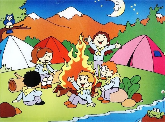 Рисунок дети в походе