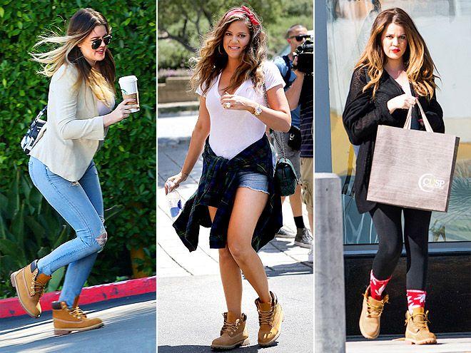 TIMBERLAND BOOTS photo | Khloe Kardashian