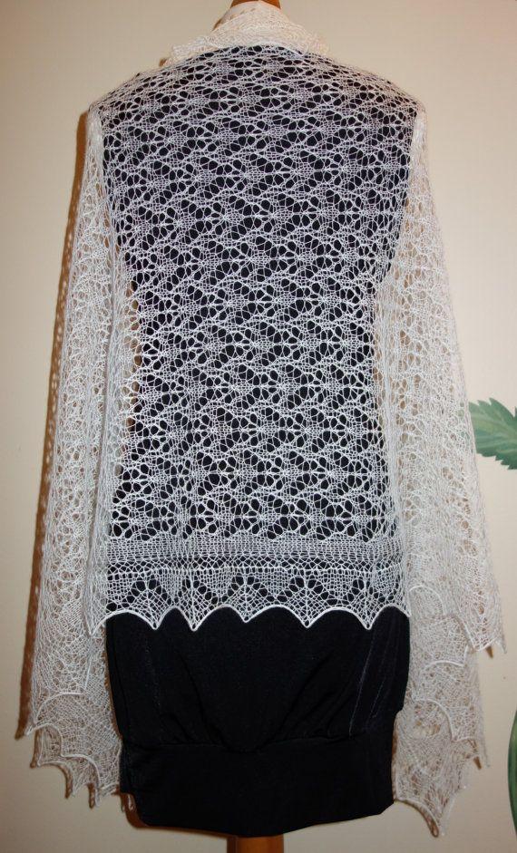 Hand-knitted wedding shawl, Estonian lace, Haapsalu Shawl ...