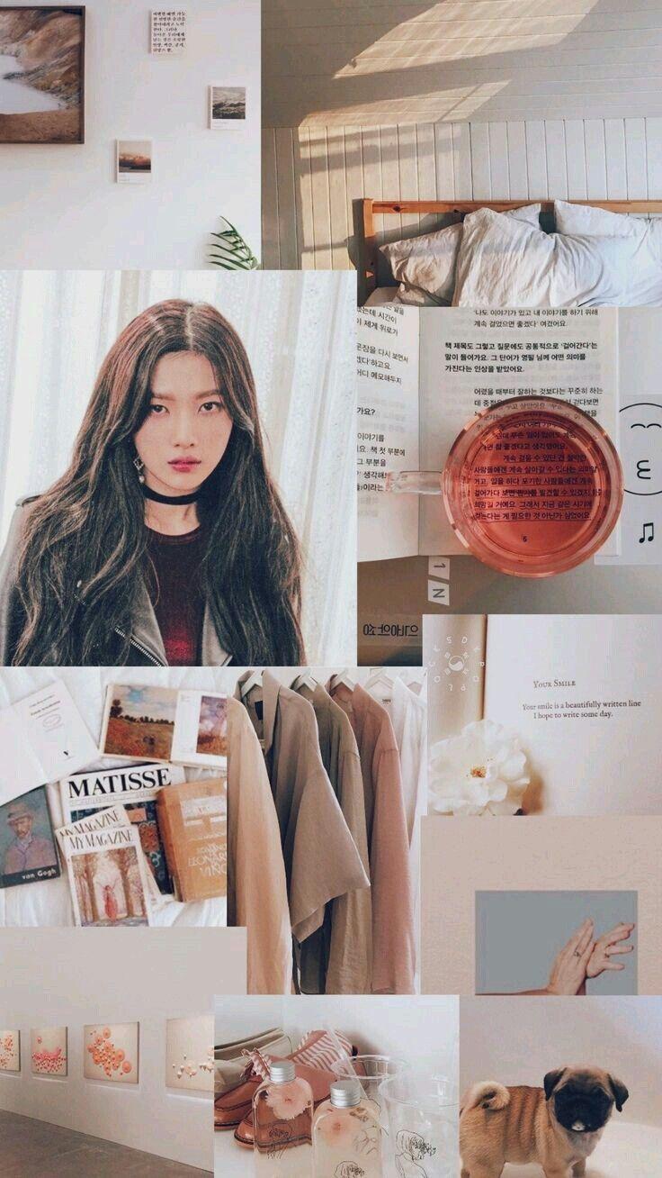 Pin Oleh Fira Kirana Di Red Velvet Kertas Dinding Dinding