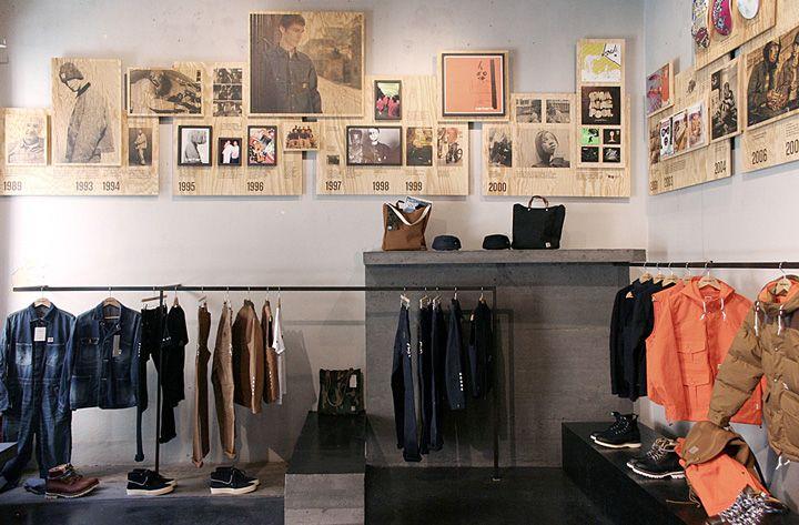 Carhartt Work In Progress store, Milan store design