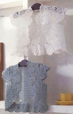 Receitas de Crochet: Bolero rendado