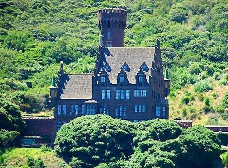 A picturesque six-storey castle in Karbonkelberg, on the outskirts of Hout Bay has been sold to a Russian businessman for R23m.   The castle has 13 en-suite bedrooms, a library and a bar is situated high up against the mountain, overlooking Hout Bay beach.   It is only accessible by private road and helicopter and is situated on 8 500m² of land, which boasts a natural waterfall and swimming pool.