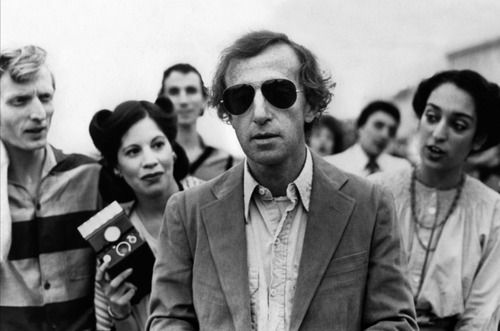 Woody Allen   quirky   black & white photography   fans and followers   aviator shades   sunglasses   The Impossible Cool   polaroid camera