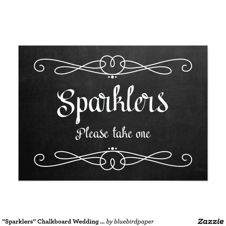 standard size wedding invitation%0A   Sparklers   Chalkboard Wedding Sign