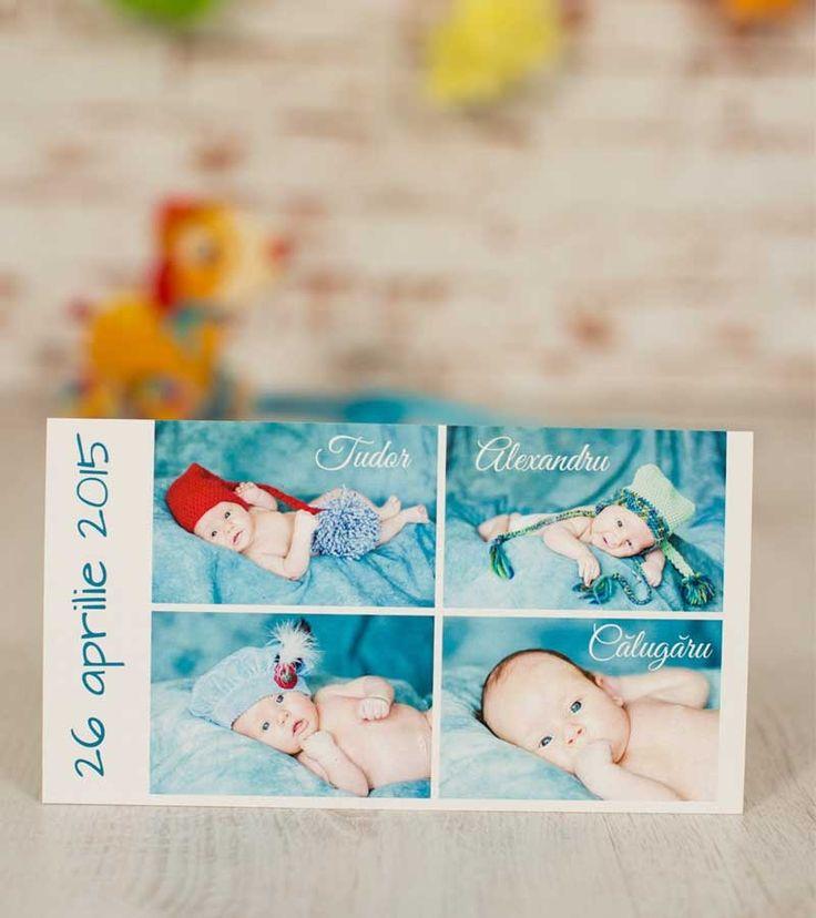 Invitatie de botez - Baby Collage