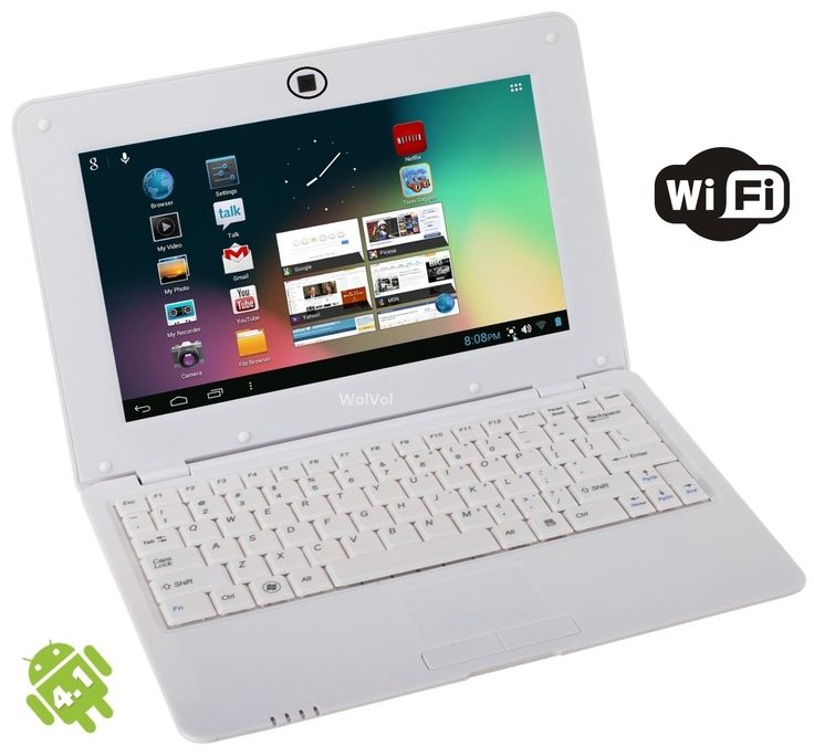 The Latest WolVol Model Android 4.2, Built with Dual Core which enables better performance * Built-in WiFi and Ethernet Port to Access the Internet * Browse the Web, YouTube Facebook Twitter, Check Emails, Write Documents, Save Photos/Videos * Access thousands of movies and TV shows through the Netflix app #Wolvol #Laptop