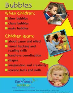 bubbles with children child care observation - Google Search