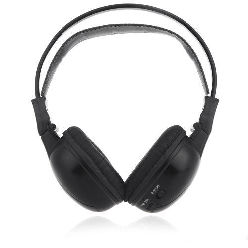 Infrared Stereo Double-channel Wireless Headphone Headset IR Car Headrest DVD Player