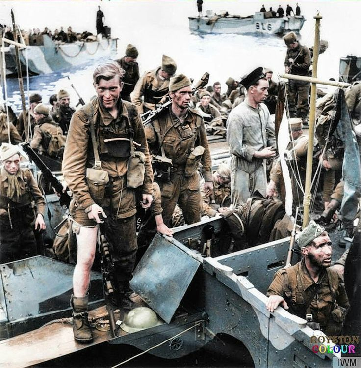 Troops returning after the Dieppe Raid.