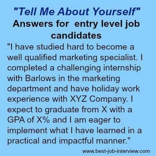 Tell Me About Yourself Is A Tough Interview Question. Use These Expert  Guidelines And Sample Interview Answers To Get It Right.