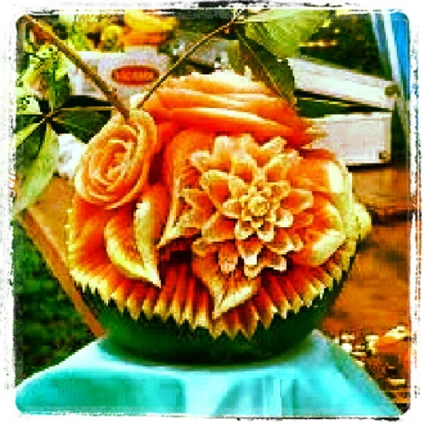 Best valentine s day fruit carving images on pinterest