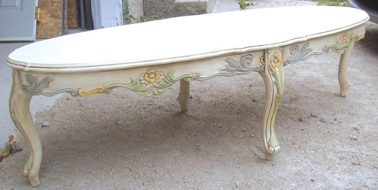 Painted and waxed with Annie Sloan products - I loved the dark wax effect on the legs of this coffee table.
