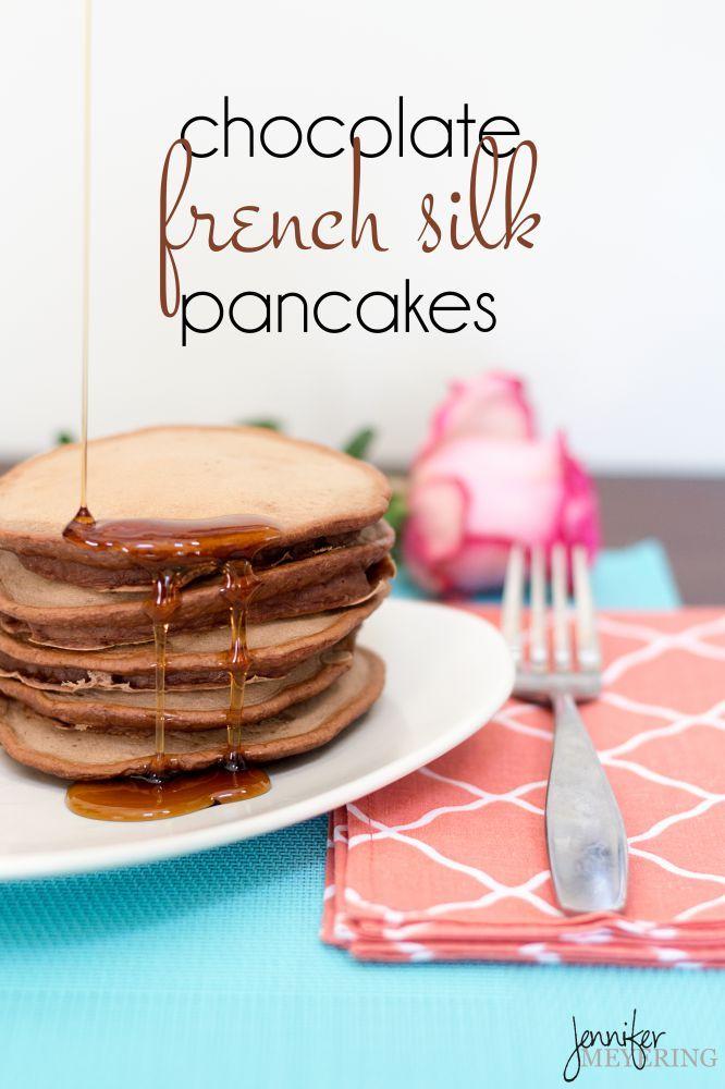 Chocolate French Silk Pancakes | JenniferMeyering.com