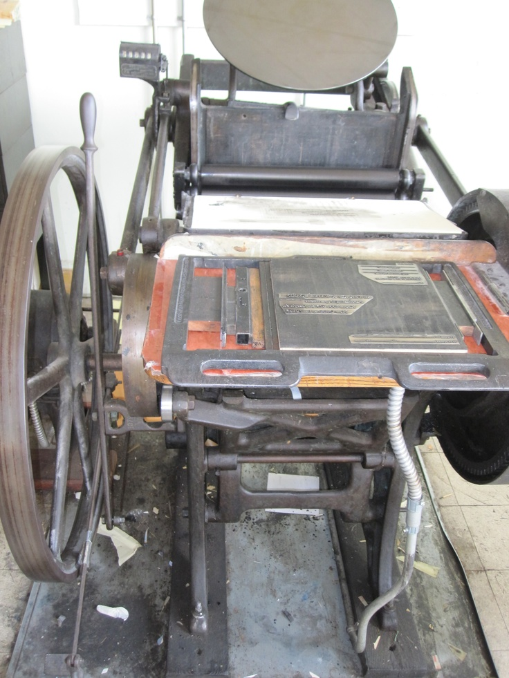Our letterpress machine