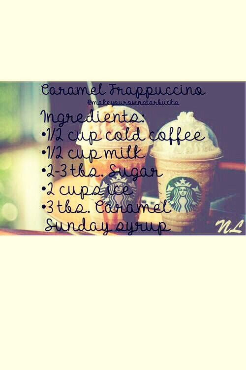 Make Your Own Starbucks Caramel Frapaccino