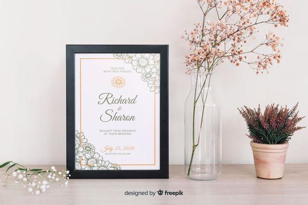 Wedding Invitation Template Free Vector Wedding