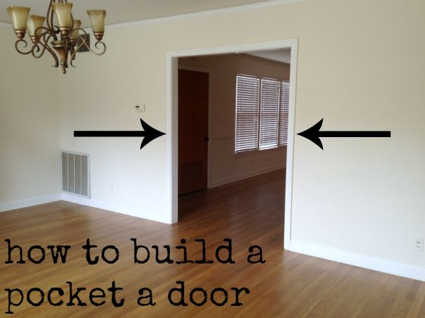 How to build a pocket door: A more complex DIY. Tutorial features tons of step-by-step photos and a supply list.