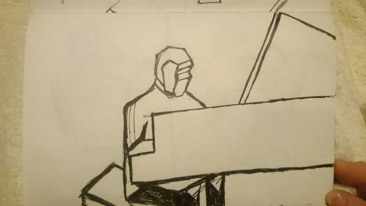 Пианист. Упрощение формы.
