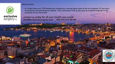 Did you know....in Turkey there are 1750 healthcare institutions...52 are Joint Commission Accredited...