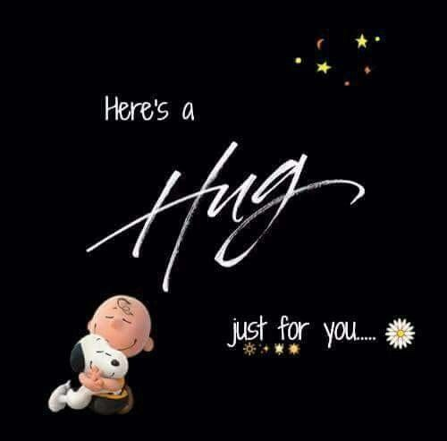 Here's a Hug just for you... Charlie Brown and Snoopy 3D.