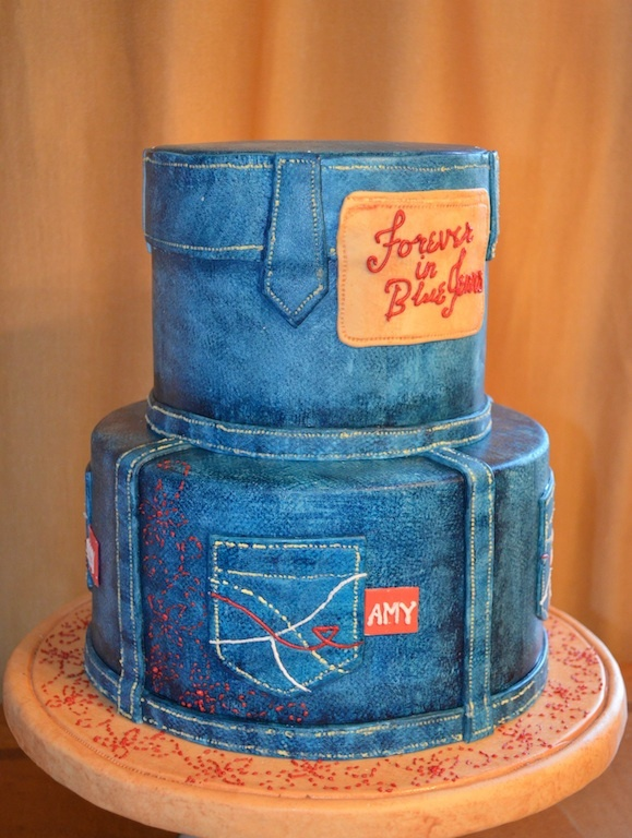 Blue Jeans Cake-best marshmallow fondant recipe