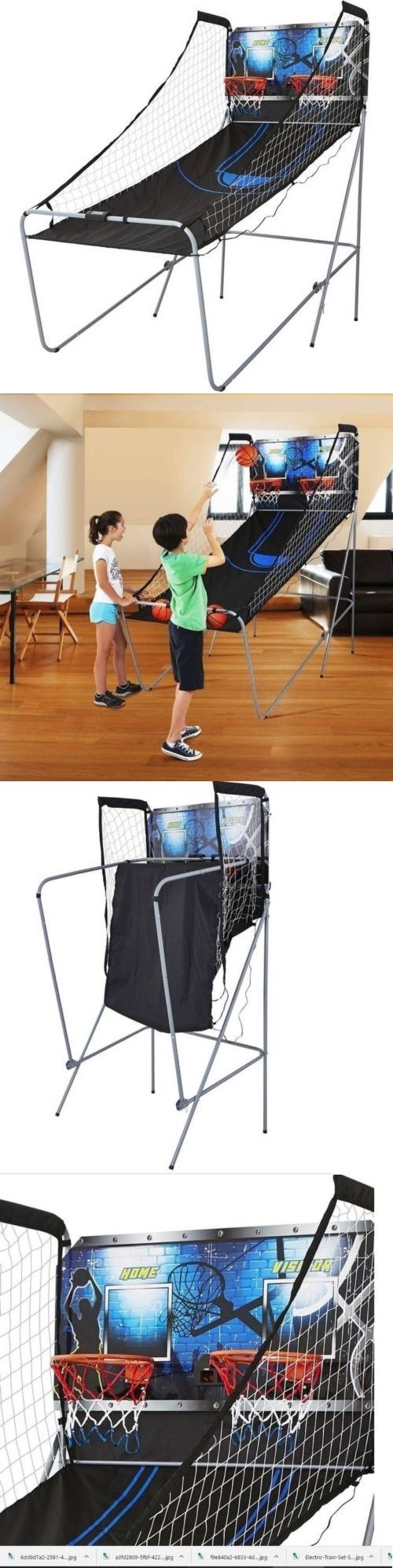 Other Indoor Games 36278: Basketball Game Arcade 2 Player Style Shooting Indoor Home Electronic Foldable BUY IT NOW ONLY: $74.49