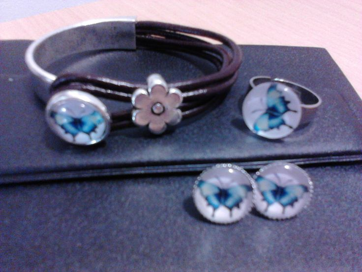 Conjunto Borboleta Azul
