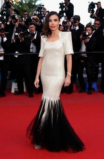 ÉLODIE BOUCHEZ   CANNES FILM FESTIVAL, MAY 23RD    Fall-Winter 2011 Haute Couture dress