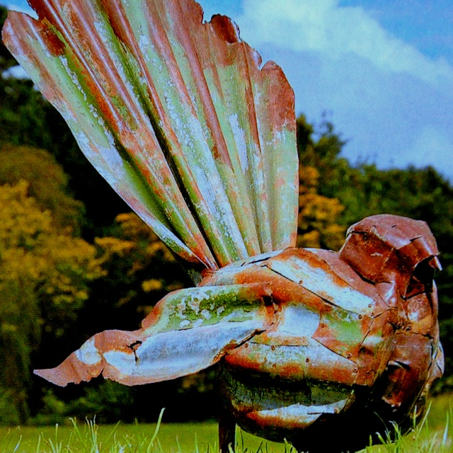 Corrugated Iron New Zealand fantail by NZ artist Jeff Thomson46 best Corrugated Iron Creations images on Pinterest   Metal art  . Metal Garden Ornaments Nz. Home Design Ideas