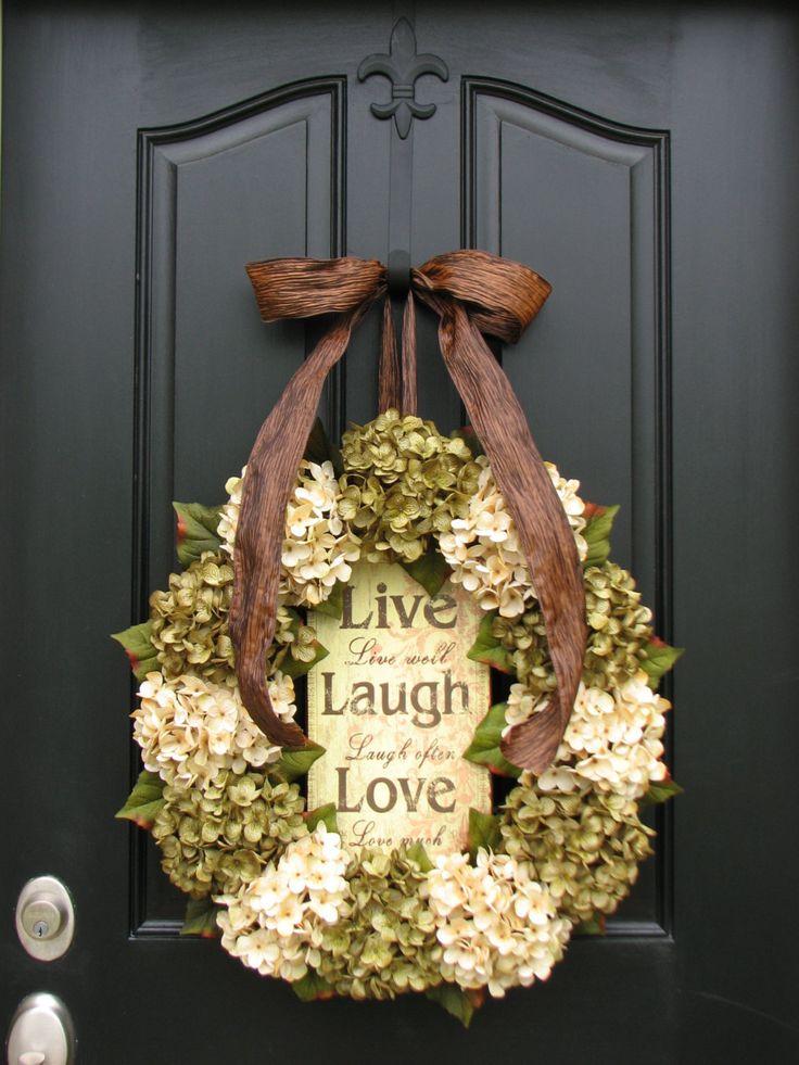 Fall Handmade Wreath Large Fall Hydrangea Wreath by twoinspireyou, $140.00