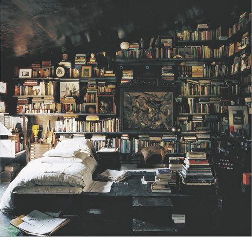 What dreams would you have under all those books?!?