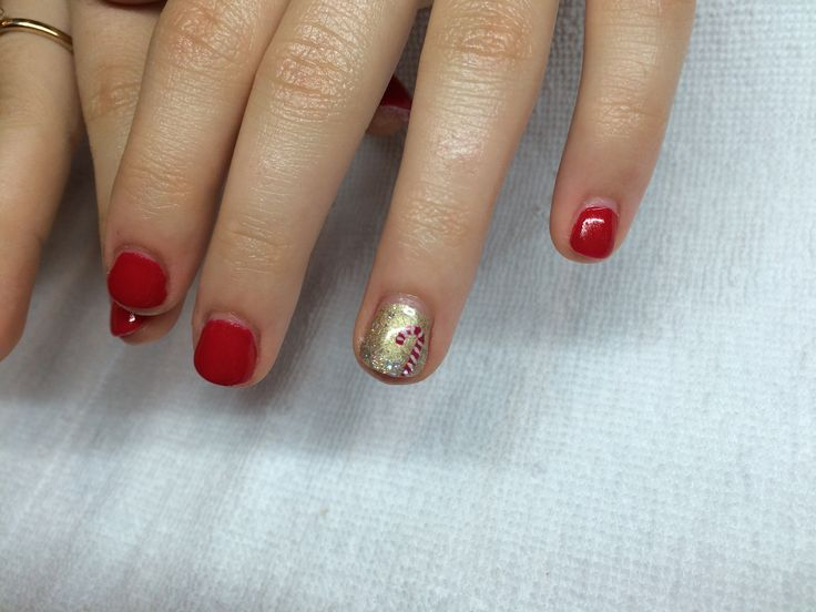 Christmas Nails Done by Jayme! #CandyCane