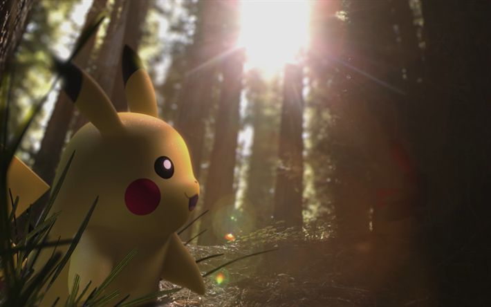 Download wallpapers Pikachu, 4k, 2018 games, Pokemon Go