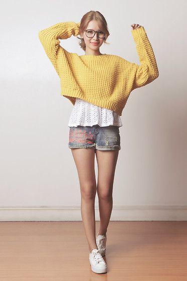 Just G Top, Just G Shorts, Romwe Sweater, Topshop Sneakers - 030614 - Tricia Gosingtian